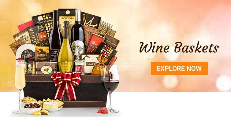 Wine gift baskets UK