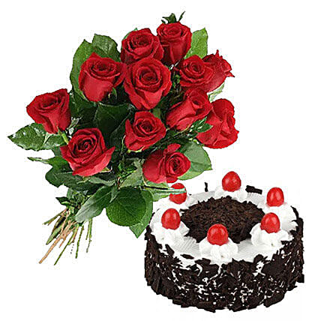 Black Forest Cake N Roses