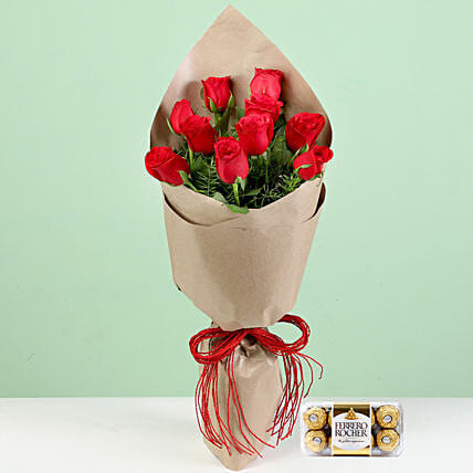 Flower Bouquet and Chocolate Online