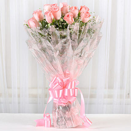 Online Pink Roses Bouquet