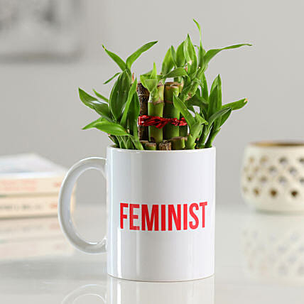2 Layer Bamboo In Feminist Printed Mug
