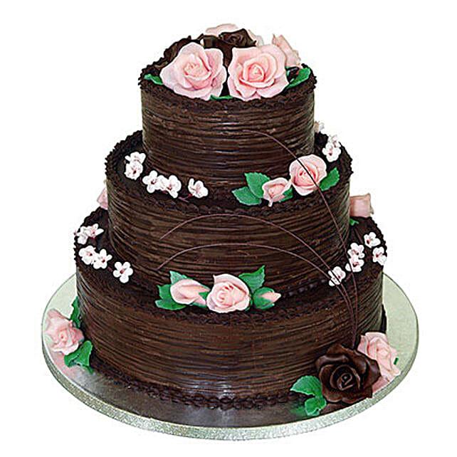 3 tier chocolate wedding cake 5kg