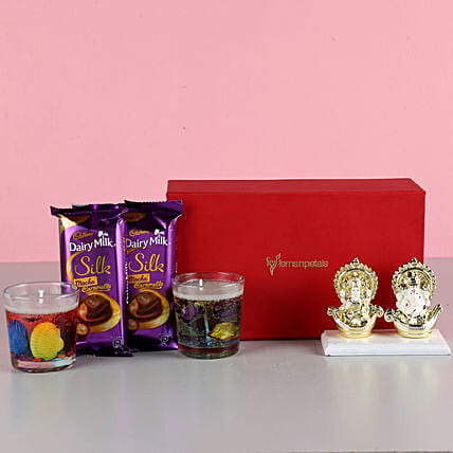 aroma candle with ganesha idol for diwali