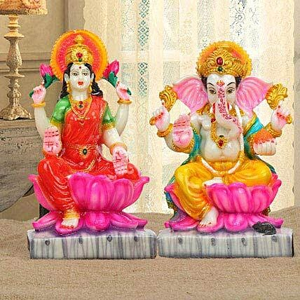 Colorful laxmi ganesha set