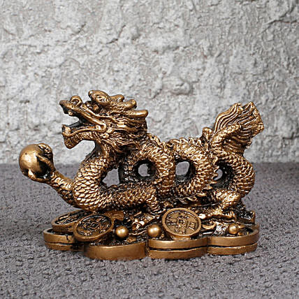 attractive  feng shui dragon idol