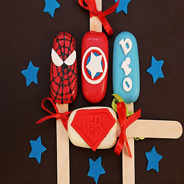 hero cakesicles for kids