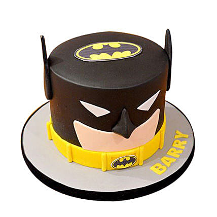 Batman Fondant Cake for boys 1kg