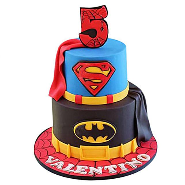 Superhero design cake 3kg