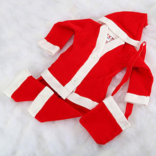 Santa claus baby dress.