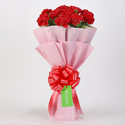 Online Carnations Flower Bouquet