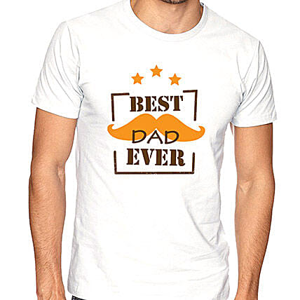Printed Best Dad T-Shirt