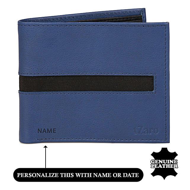 Buy Online Black and Blue Bi Fold Wallet