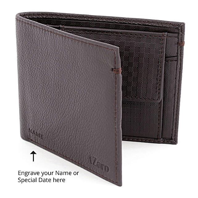 Online Brown Bi-Fold Wallet For Men