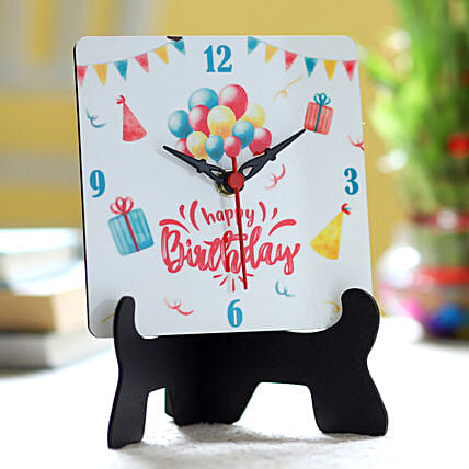 Online Birthday Wishes Table Clock
