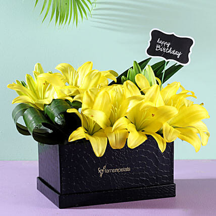 best flower box arrangement for birthday