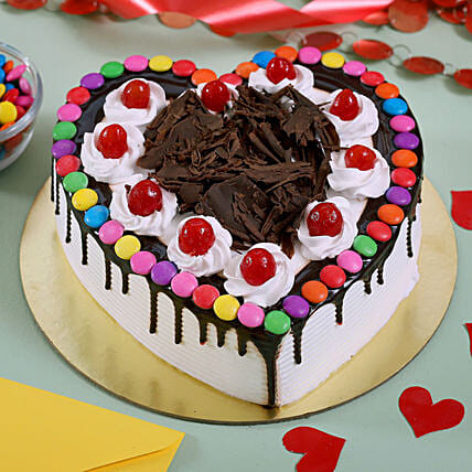 Chocolate Heart Shaped Cake Online