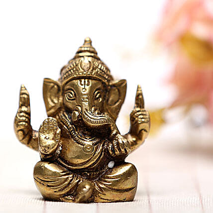 Blessing Of Ganesha-Brass idol of Ganesha