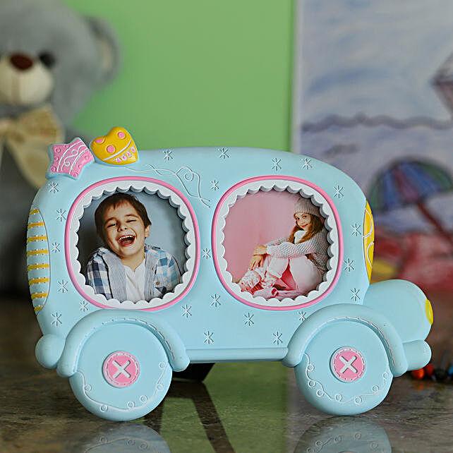 Blue Car Photo Frame