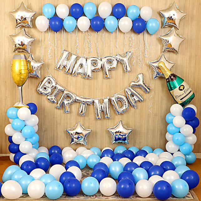 Blue Happy Birthday Décor