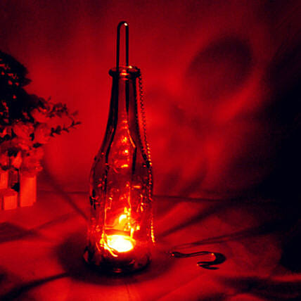 Bottle Lamp- Red