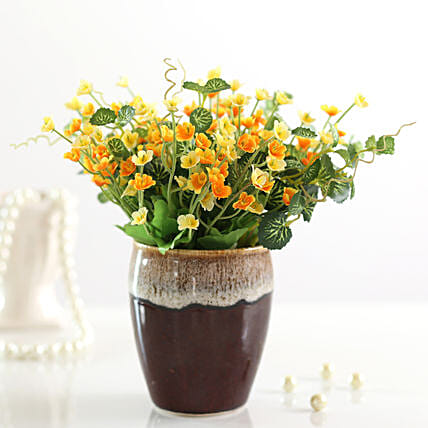 beautiful bunch of artificial yellow gypsophila online
