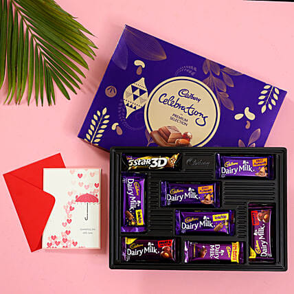 Exclusive Chocolate Box with Card Online