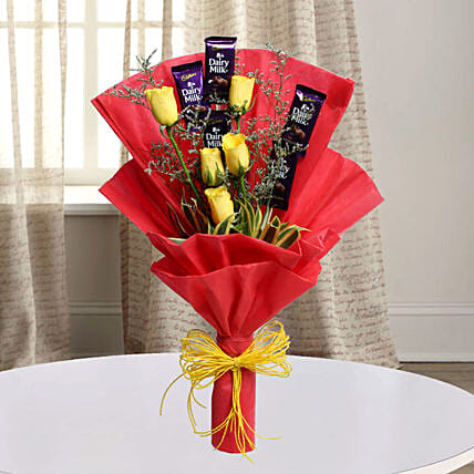 Chocolate and Roses as a gift