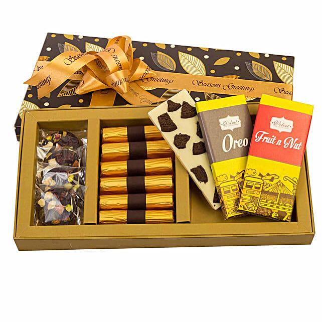Choco Box Hamper with Rakhis