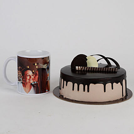 Mothers' Day Chocolate Cake and Mug Combo