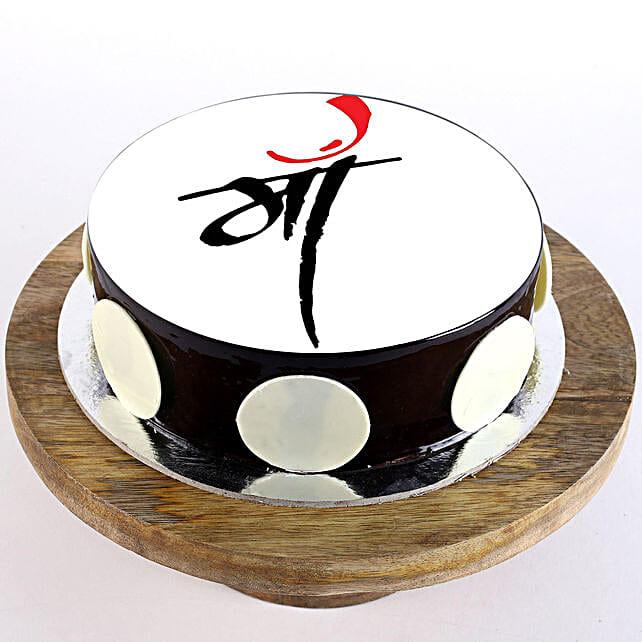 Customised chocolate cake for mom