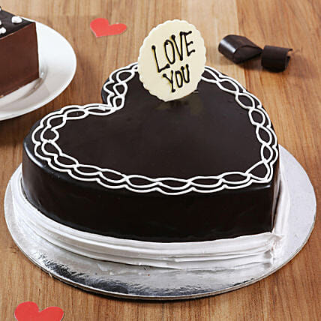 Classic Heart Shaped Chocolate Cake