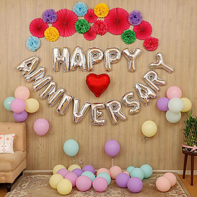 Balloon decoration for anniversary online