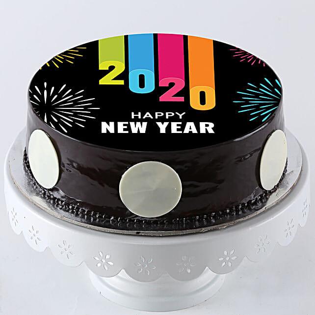 online new year photo cake