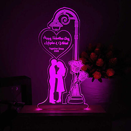 best personalised night lamp for couple online