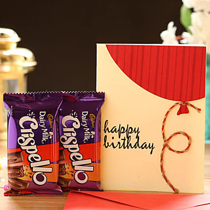 Chocolate with Birthday Card Online