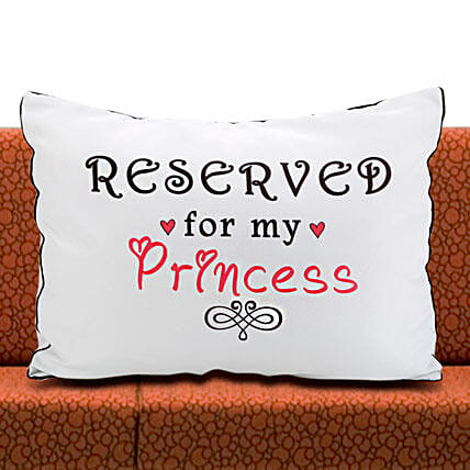 Daddys Princess-1 White Pillow Cover 22x17 inches