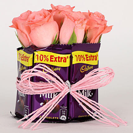 Flower and Chocolate Arrangement Online