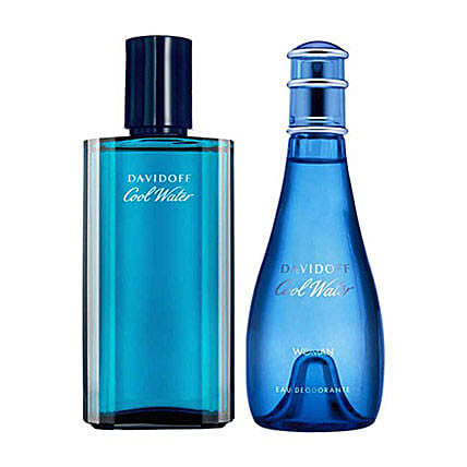 Perfumes set for couple