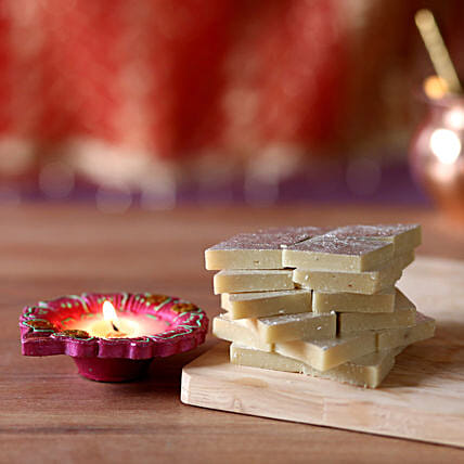 Online Diwali Celebrations With Kaju Katli