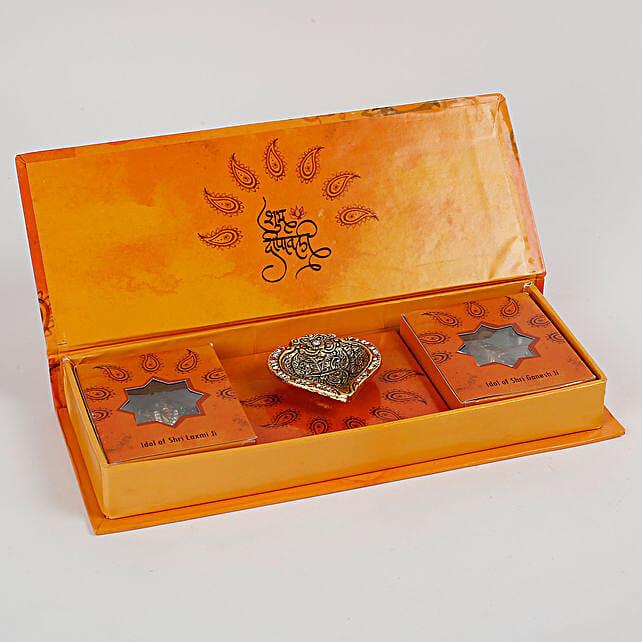 Diwali Poojan Kit With Lakshmi Ganesha Idols