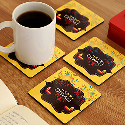 Online Diwali Wishes Coasters