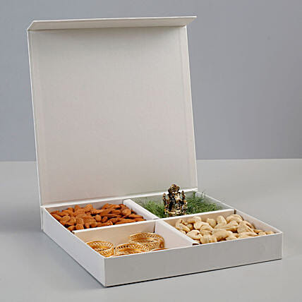 dry fruit surprise box with ganesha