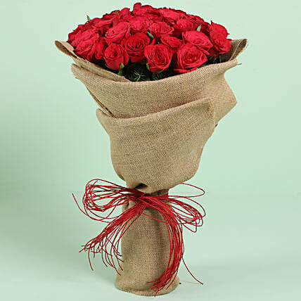 Bunch of Red Roses for Him