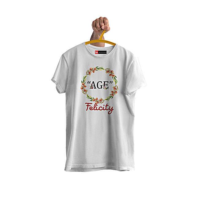 trendy personalised tshirt for birthday