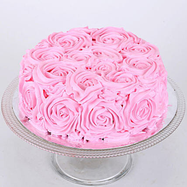 Rosy Pink Choco Cake