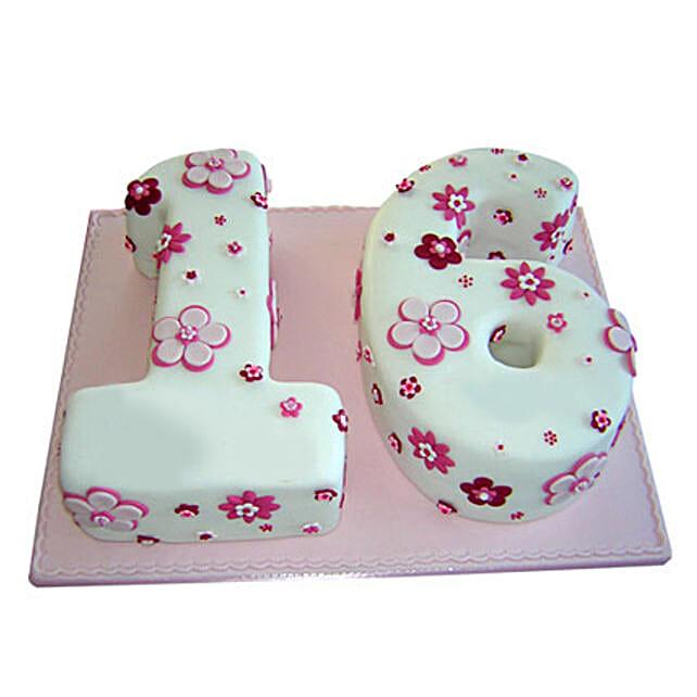 16 Number Birthday Cake 4kg