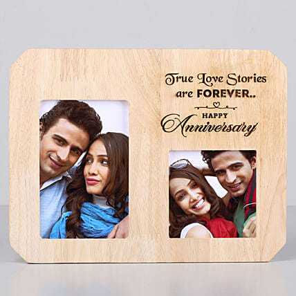 anniversary One Personalised Wooden photo frame for couple