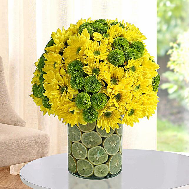 Glass Vase Floral Arrangement