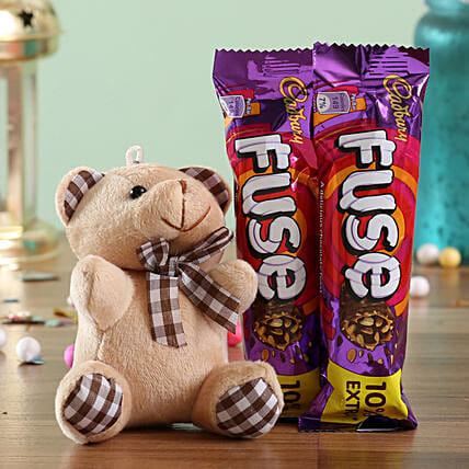 Teddy and Chocolate Bar Combo for Her