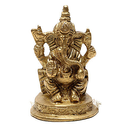 Ganesha Brass Idol-Lord Ganesha brings good luck,prosperity and wisdom in the lives of people